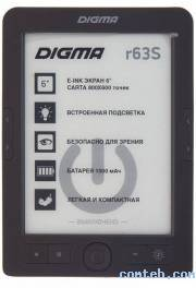 "Электронная книга 6"" Digma R63S Dark Gray (***)"