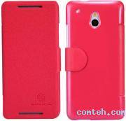 Чехол-книжка для HTC One Mini (M4) Nillkin Fresh Series Leather Case (Red) (6076843)