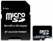 Карта памяти micro SDHC 8 ГБ SILICON POWER (SP008GBSTH004V10-SP***)