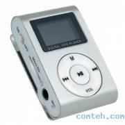 "MP3-плеер 1,2"" Perfeo MUSIC CLIP DISPLAY (VI-M001-Display Silver)"